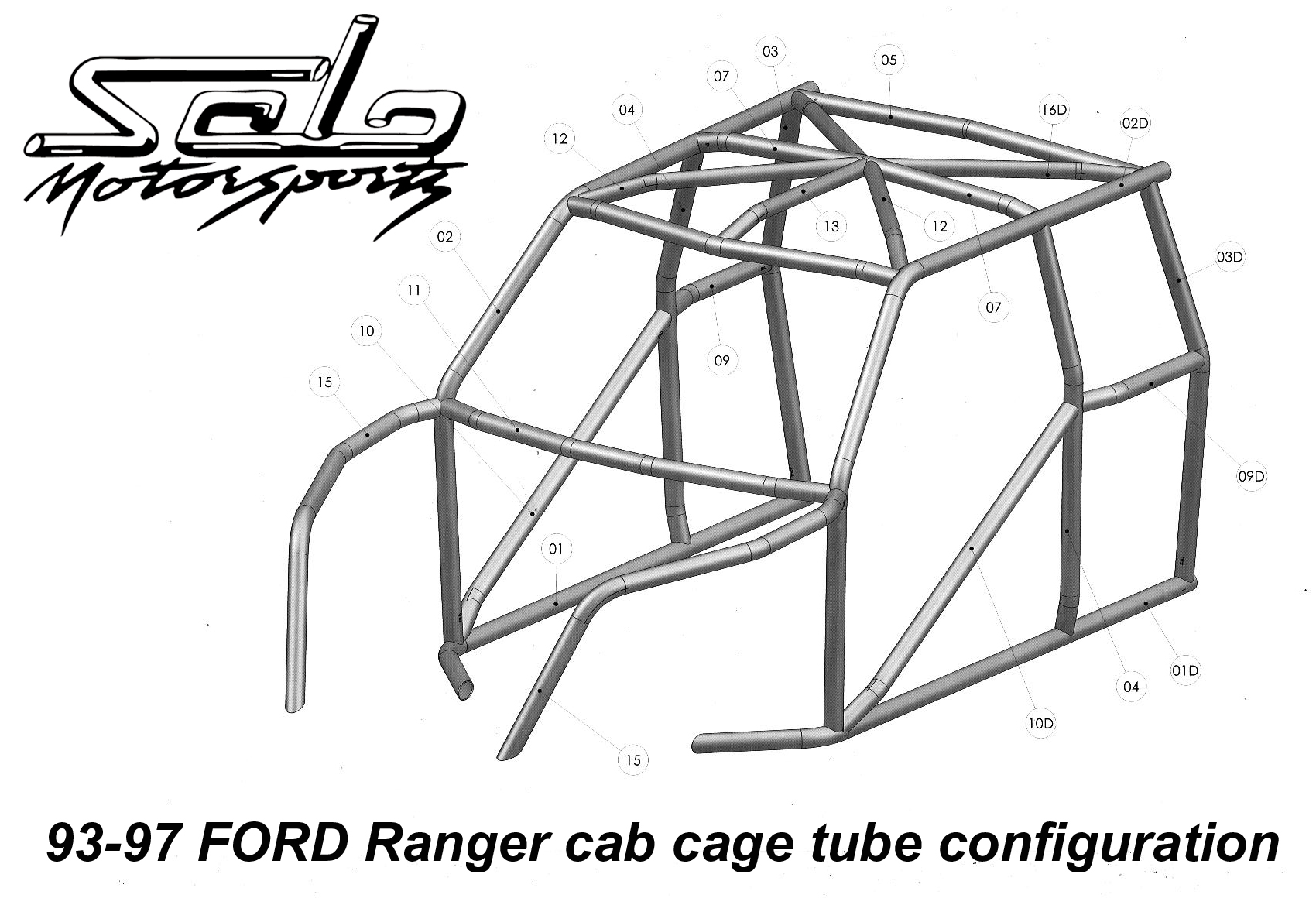 Ranger W I Y Race Legal Roll Cage Solo Motorsports