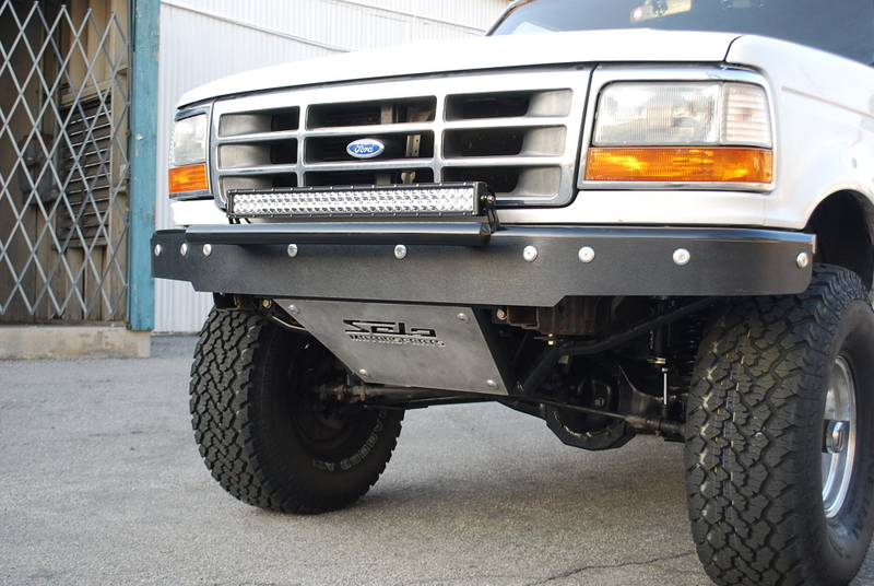 Ford Bronco F Front Bumper With Pusher Bar on 1992 F 150 Trucks