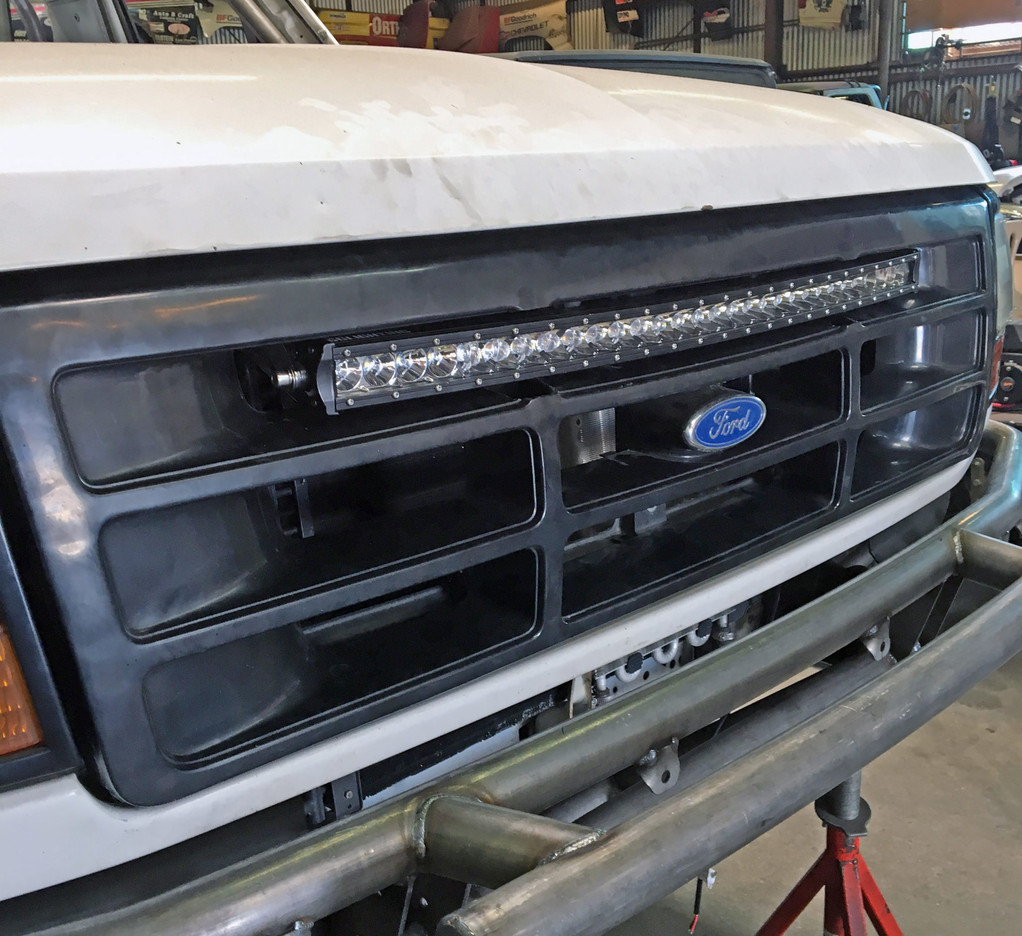 30 Single Row Led Light Bar Bracket Ford Bronco F Series Truck