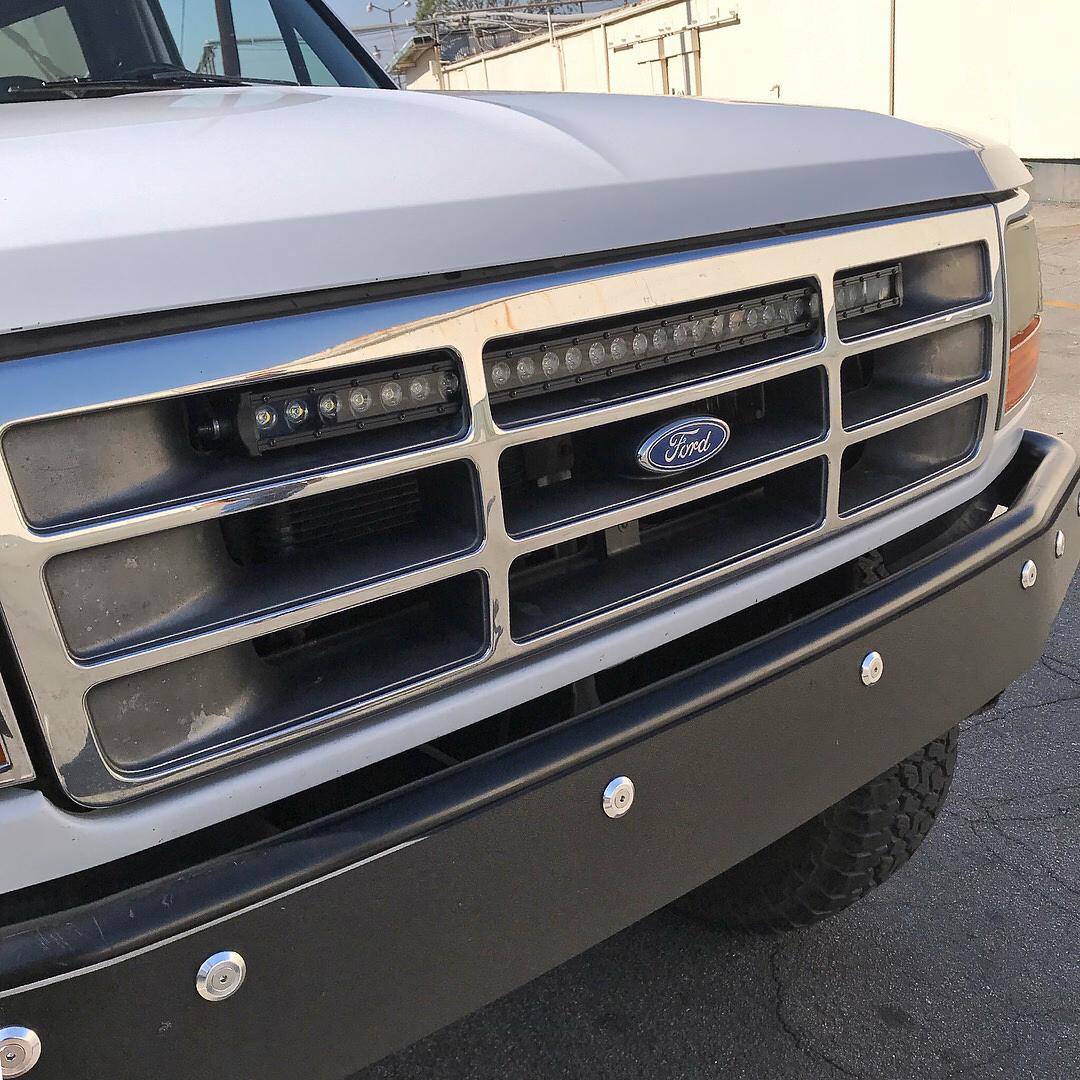 30 Single Row Led Light Bar Bracket Ford Bronco Amp F