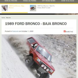 1989 FORD BRONCO – BAJA BRONCO featured in Fourwheeler