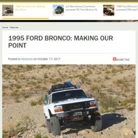 95 Ford Bronco featured in Fourwheeler