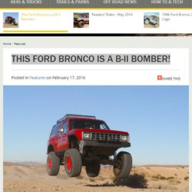 THIS FORD BRONCO IS A B-II BOMBER featured in Fourwheeler