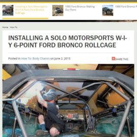 FORD BRONCO ROLLCAGE featured in Fourwheeler