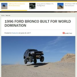 1996 Ford Bronco featured in Fourwheeler